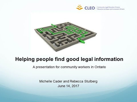 Steps to Justice - A tool for helping people find good legal information