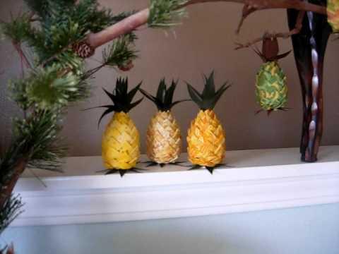 Hawaiian Hand Made Pineapple Crafts Youtube