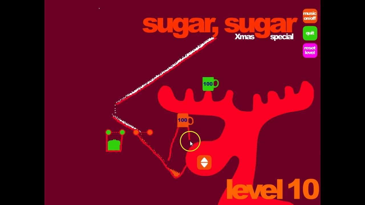 Sugar Sugar Christmas.Lets Play Flash Game Sugar Sugar Christmas Level 10