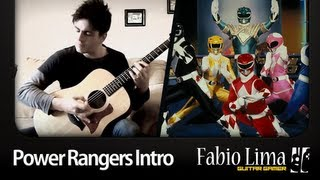 Power Rangers Intro on Acoustic Guitar by GuitarGamer (Fabio Lima)