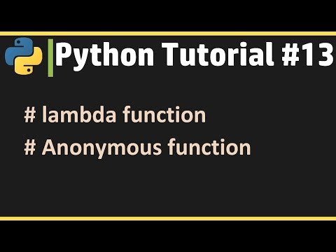 lambda function - Python Tutorial #13 thumbnail