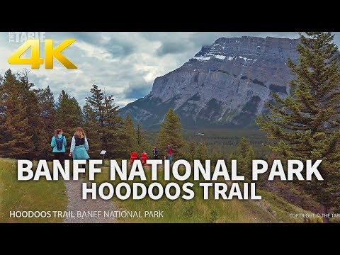 BANFF NATIONAL PARK - Hoodoos Trail, Vermilion Lake, Surprise Corner, Bow Falls, Alberta, CANADA
