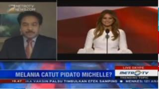 Video Pidato Melania Trump Tiru Michelle Obama