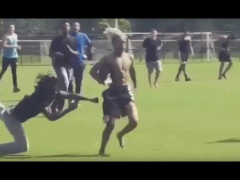 XXXtentacion Football Skills Are INSANE!! Jukes Opponent With Crazy Stiff Arm #AllUrbanCentral thumbnail