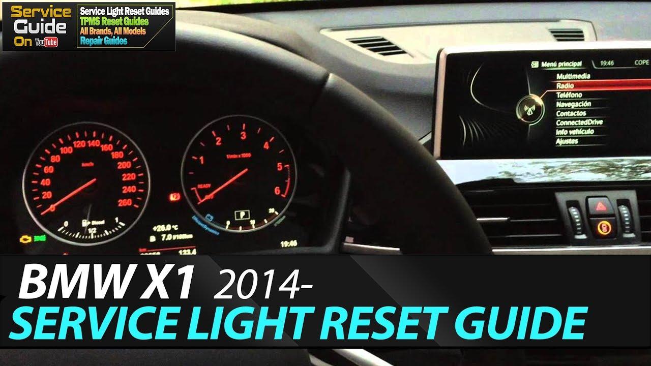Bmw X1 2014 Service Light Reset F48 Youtube