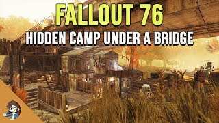 Fallout 76: Hidden Base CAMP Under a Bridge | Build and Tour