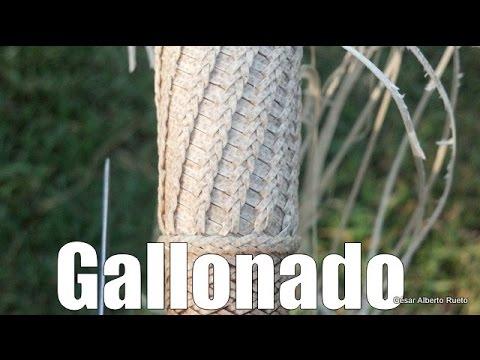 """Cabo tejido a lezna """"Gallonado con cresta de gallo"""" """"El Rincón del Soguero"""""""