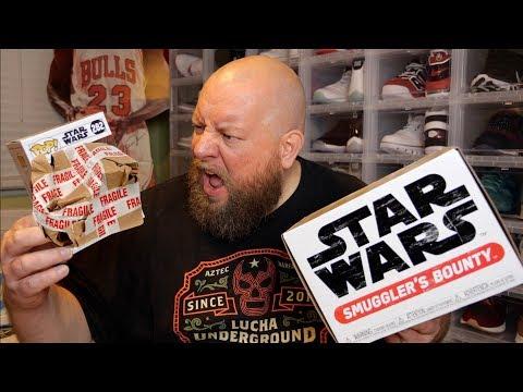 Unboxing STAR WARS Smuggler's Bounty Jabba's Skiff Subscription Box + DAMAGED FUNKO POP AGAIN!!!!