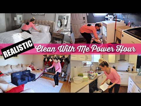 REALISTIC CLEAN WITH ME 2018 POWER HOUR // BEAUTY AND THE BEASTONS