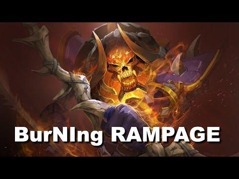 DK.BurNIng Double Rampage Dota 2