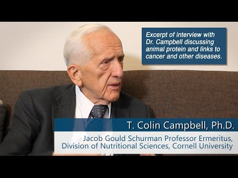 Dr. T. Colin Campbell Discusses Animal Protein and Cancer