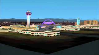 Flight Simulator 2002 Epsoide #1; Taking a look over Los Angles in FS2002 SRG