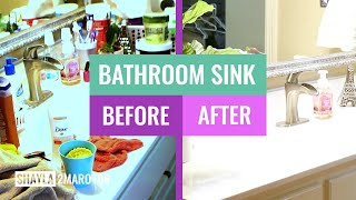 Declutter Bathroom, Countertop and Under Sink | Cleaning and Organizing