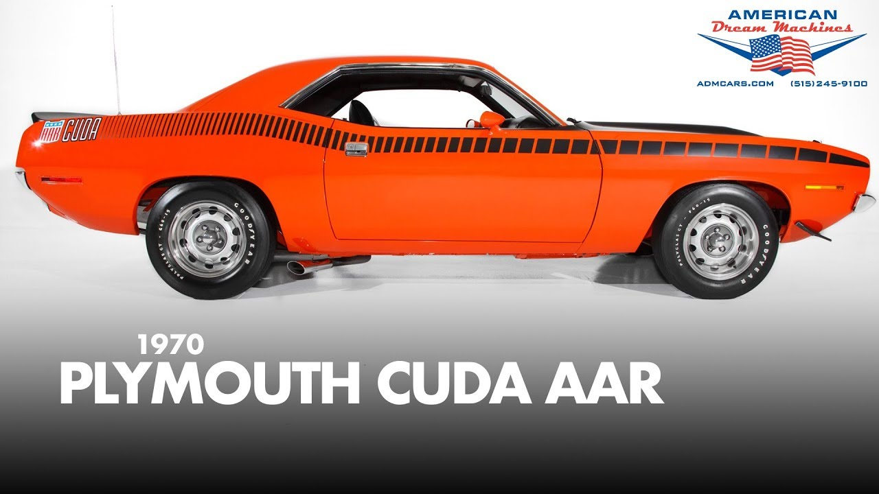 1970 Plymouth Cuda AAR 340 Six Pack - For Sale - Frame Off Restoration  Orange