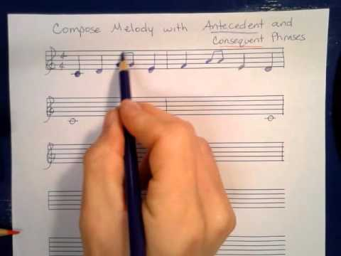 Compose Melody with Antecedent and Consequent Phrases