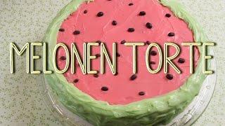 Melonen Torte - Motivtorte ohne Fondant - Torte für Kindergeburtstag