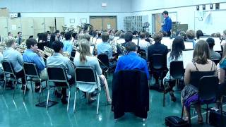 """The South Lakes High School Band plays """"Pomp & circumstance"""" for the 2011 graduation"""