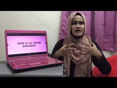 PUBLIC SPEAKING 751 Persuasive Speech: Exam Should Be Banned
