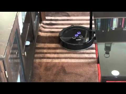 l 39 aspirateur robot solac aa3400 ecogenic en mode normal youtube. Black Bedroom Furniture Sets. Home Design Ideas