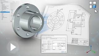 T-FLEX CAD 15 - Создание чертежа по 3D модели (2D проекции)