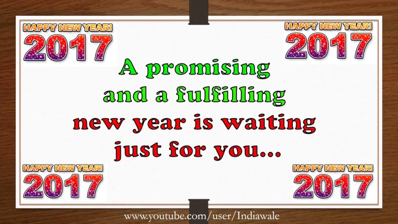 Happy New Year 2017 - Beautiful Wishes/New Year greetings/Whatsapp ...