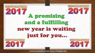Happy New Year 2017 Beautiful Wishes New Year greetings Whatsapp E card HD Free Download