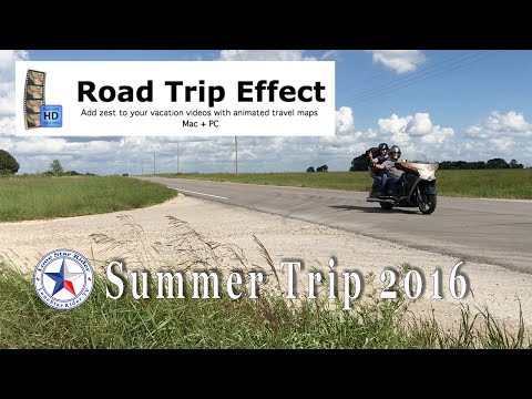 Road Trip Effect Animated Travel Maps - Summer Trip 2016 Route