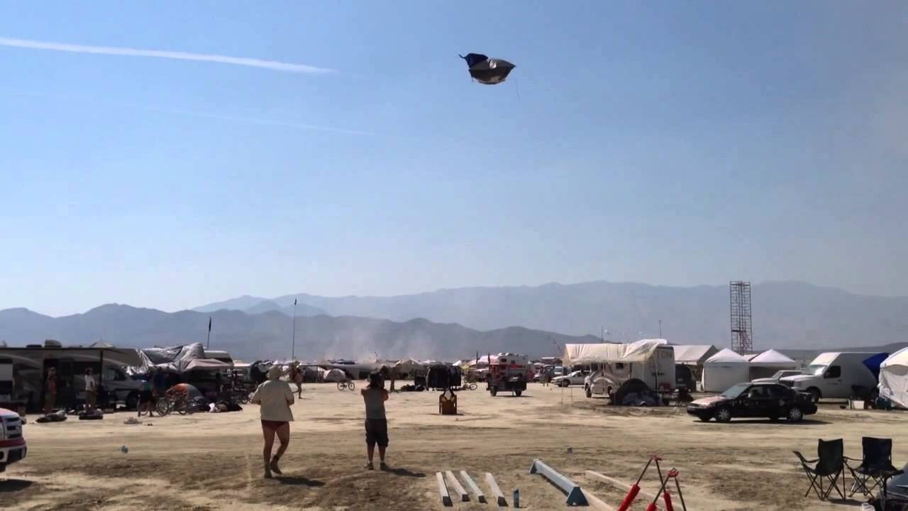 & Tent flying in dust devil at Burning Man - YouTube