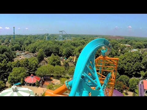 Tempesto front seat on-ride HD POV @60fps Busch Gardens Williamsburg