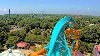 Tempesto front seat on-ride HD POV @60fps Busch Gardens Williamsburg