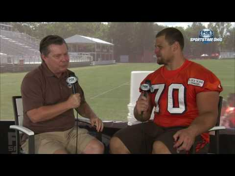 Jim Donovan 1-on-1 interview with Kevin Zeitler | BROWNS TRAINING CAMP