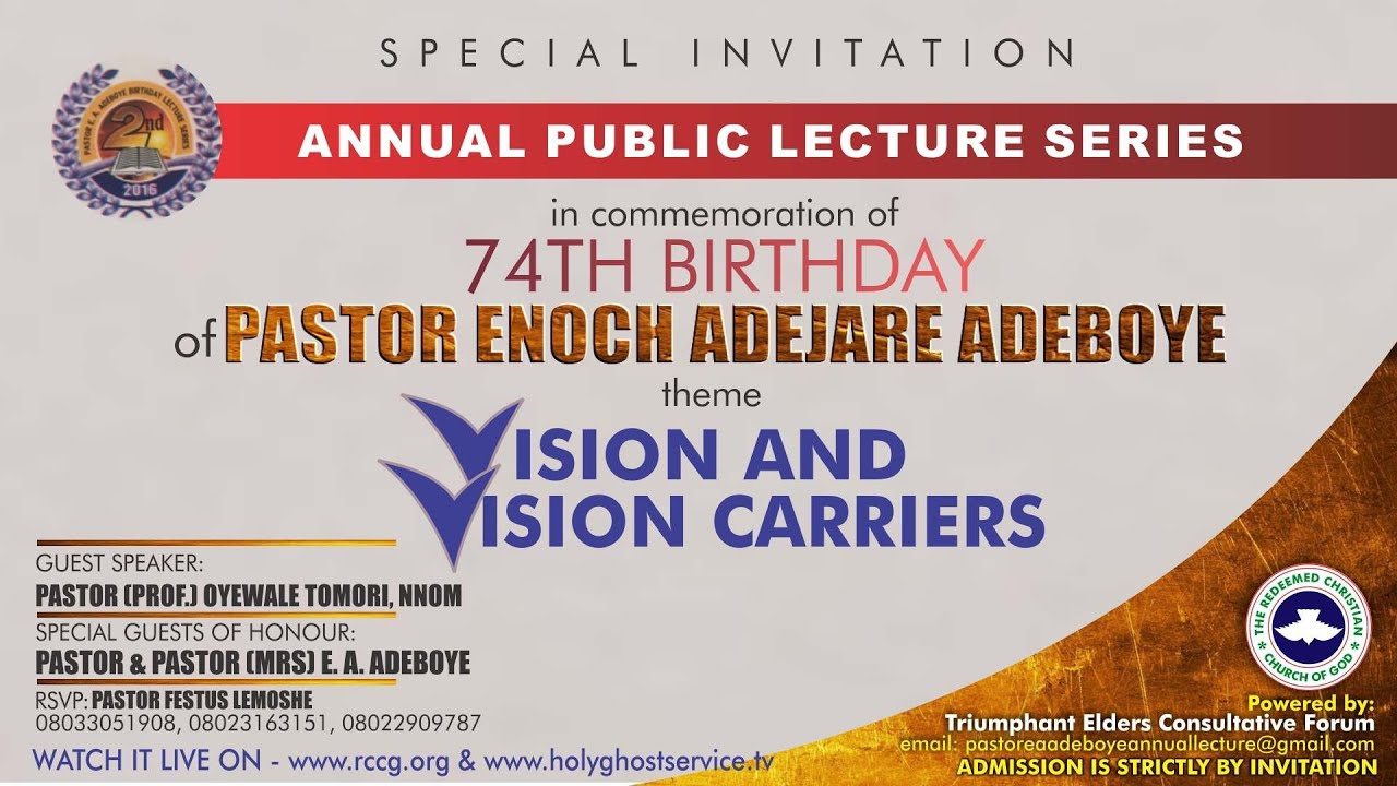 2nd Annual Public Lecture Series in memoration of 74th birthday
