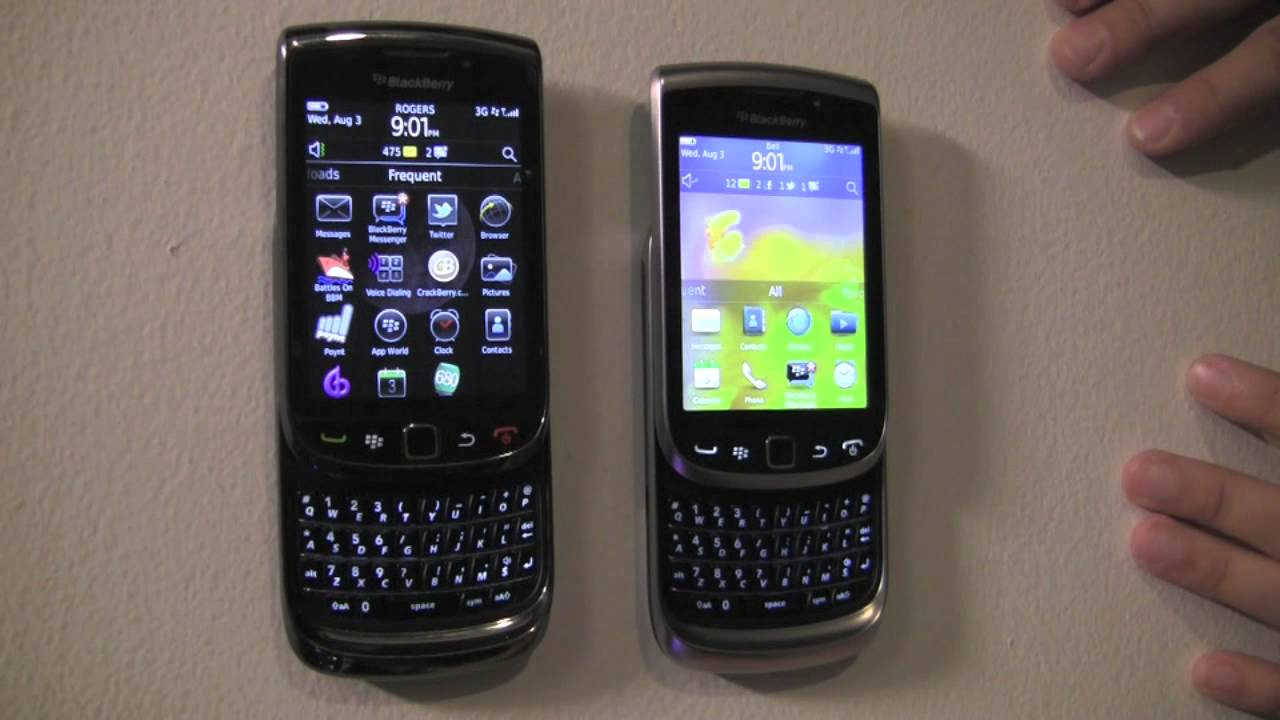 blackberry torch models compared torch 9800 9810 9850 9860 rh youtube com BlackBerry 9800 BlackBerry 9810 White