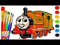 How to Draw Thomas and Friends Billy Trains for Kids