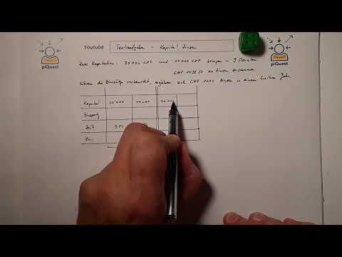 Textaufgabe - Kapital Und Zinsen