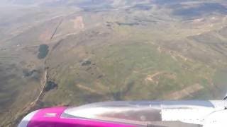 Wizz Air A320 - Cluj Napoca airport landing 09.09.2015