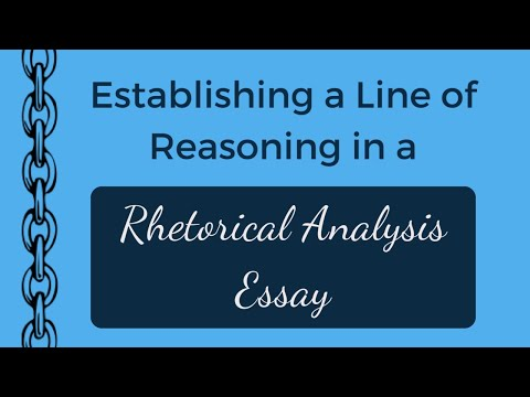 How to Establish a Line of Reasoning in a Rhetorical Analysis Essay | AP Lang Q2 | Coach Hall Writes