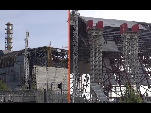 """october 2014: New Safe Confinement (NSC) """"Арка"""" / shelter / sarcophagus for chernobyl reactor 4"""