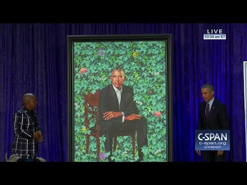 Barack Obama's portrait at the National Portrait Gallery CSPAN