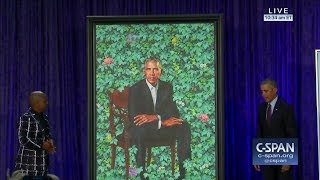 Barack Obama's portrait at the National Portrait Gallery (C-SPAN)