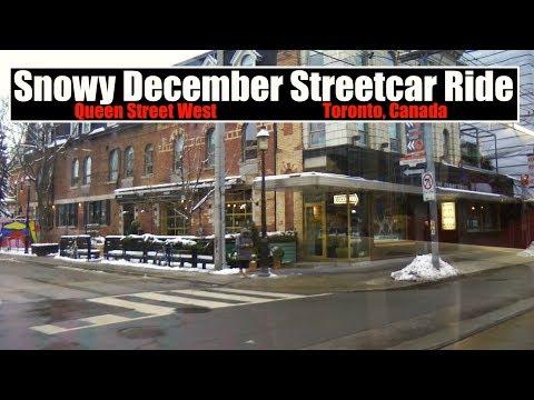 Snowy December Streetcar