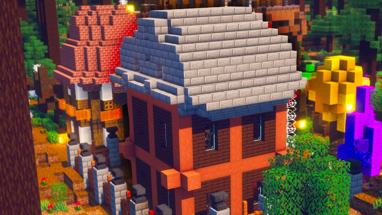 Minecraft: Houses in Autumn #Shorts