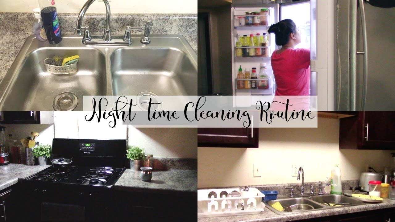 Indian Bengali Night Time Kitchen Cleaning Routine Speed Cleaning Night Time Edition Youtube