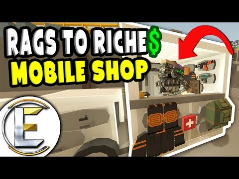 Custom Mobile Shop | Unturned Roleplay Rags to Riches Reboot #21 – Travelling Merchant (RP)