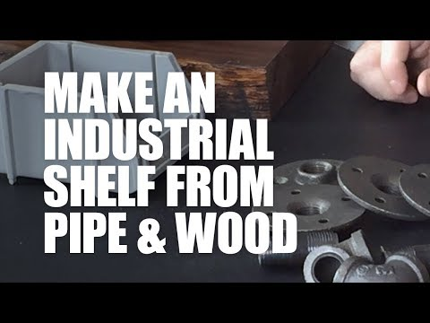 Cleaning and Sealing Iron Pipe for a DIY Industrial Shelf – Woodworking