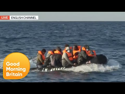 WATCH: Illegal Migrant Boat 'Shadowed' Into British Waters by French Ships