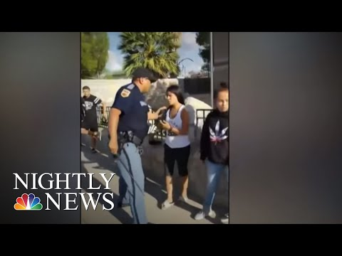 Police Officer Shown Pulling Gun Out On Kids In Viral Video | NBC Nightly News