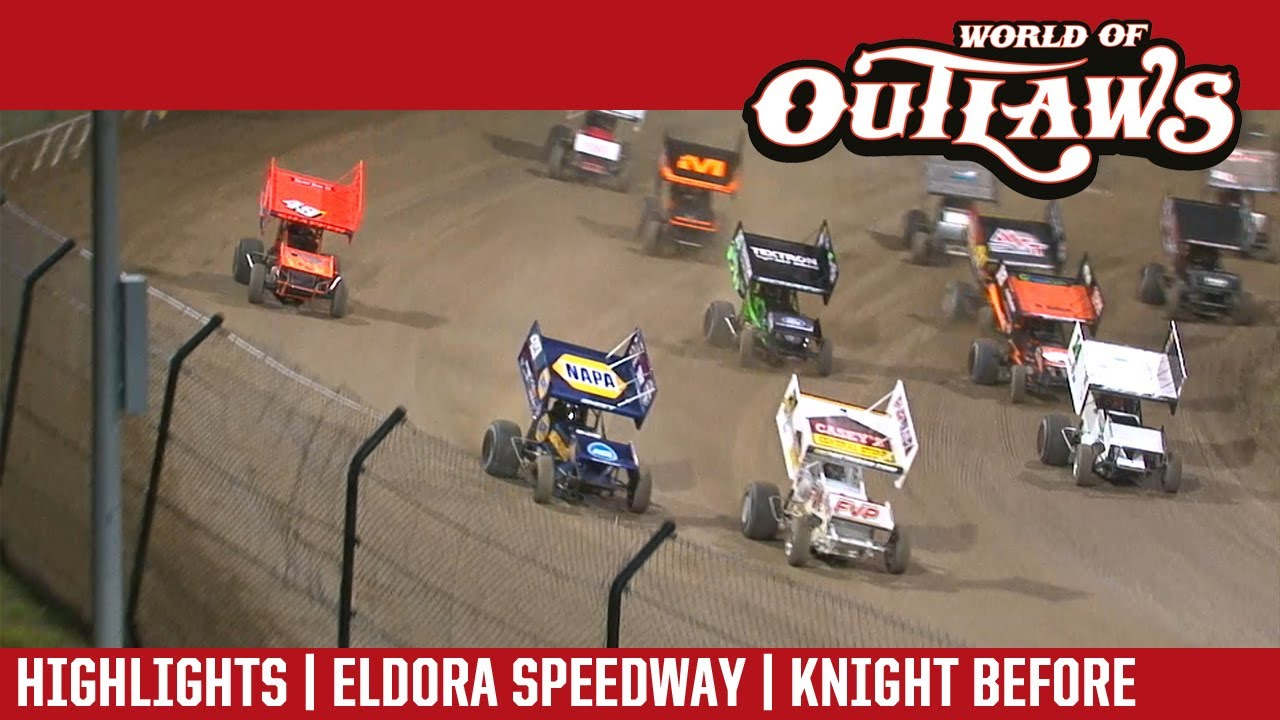 world of outlaws craftsman sprint cars eldora speedway july 14