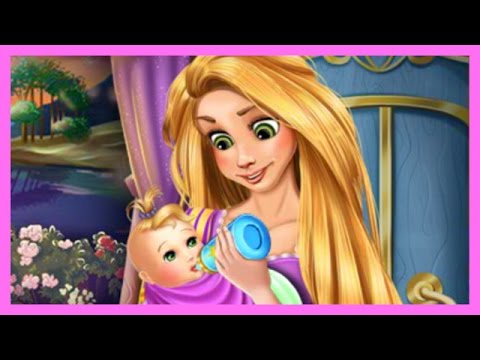 Disney Princess Rapunzel Baby Newborn Games - Tangled Movie Cartoon