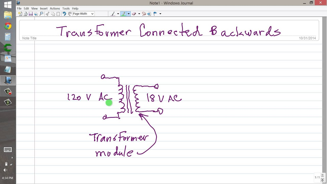 Transformer Connected Backwards on